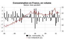 Consommation des ménages en France en mai 2010 : rebond en trompe-l'œil