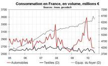 Consommation des ménages en France en juin 2010 : forte chute