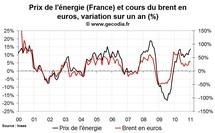 Inflation en France janvier 2011 : stable malgré la hausse des prix de l'énergie